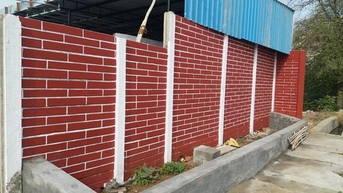 Compounds Wall - Brick Design Compound Wall Manufacturer From Lucknow