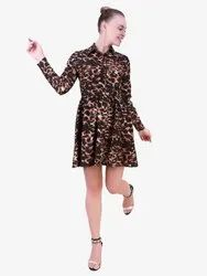 Animal Print Fix & Flare Dress