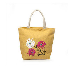 Juteberry Jute Floral Embroidery Bag