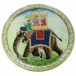 Marble Elephant Plate
