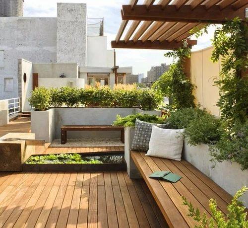 Outdoor Designing - Terrace Garden ( Modern Roof ...