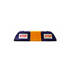 Wheel Stopper With Stop Sticker