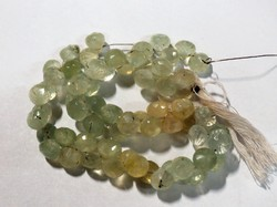 Natural Prehnite Faceted Onion Gemstone Beads