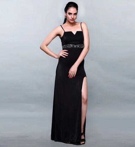 881f3d46bbb Women Dresses - Black Scuba Floor Length Gown Manufacturer from Mumbai