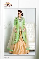 Indo-western With Long Coat And Lehenga