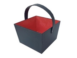 Multi Colour Leatherette Basket