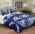 Indian Shibori Print  Bed Sheet Set
