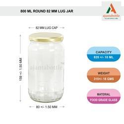 1 Kg Jam Jar Round