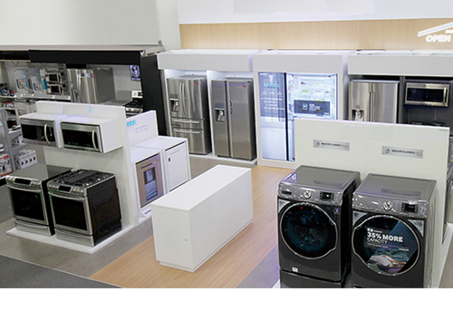 Shop Fittings Home Appliance Displays Manufacturer From