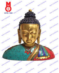 Buddha Bust Stone Work Statue