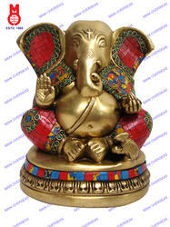 Appu Ganesh With Plain Base With Stones
