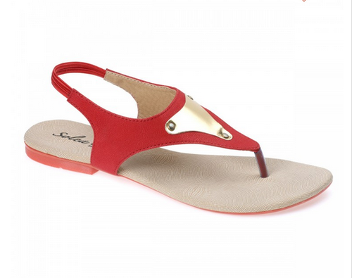 2e9dad88aa5a Paragon Solea Plus Slingback Flats For Women Red
