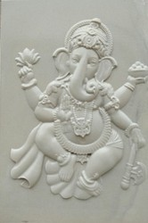 Stone Curved Lord Ganesha Picture