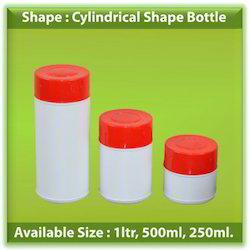 HDPE Cylindrical Shape Bottles