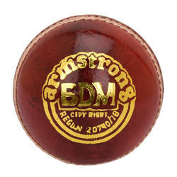 BDM Armstrong Red Cricket Leather Ball