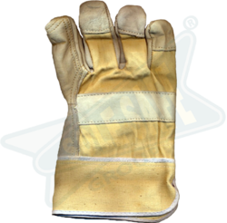 Pure Chrome Canvas Leather Double Palm Hand Gloves
