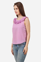 Fancy Pink Pleated Top
