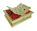 Rehal Holy Quran Book Stand-book Box - Golden Rajwadi Curved
