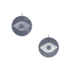 Round Evil Eye Gemstone Pendant