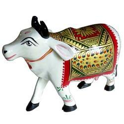 Wooden Painted Cow