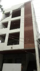 Front elevation louver work