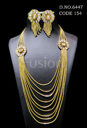 Traditional Bollywood Chain Necklace Set