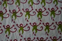 Hand Block Printed Cotton Indian Printed Fabric Monkey Print