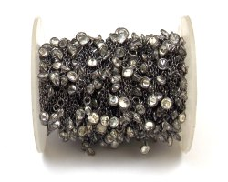 Cubic Zircon Gemstone Bezel Chain