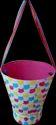 Favor Basket With Organza Hanger  Big