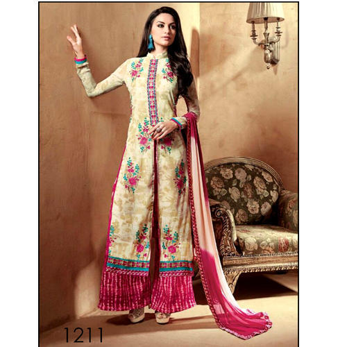 164f92d22d Semi Stitched Long Straight Suits - Embroidered Designer Suit ...