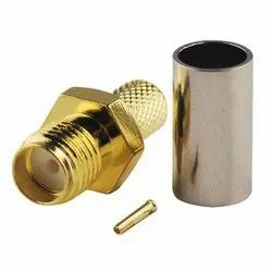 SMA Female Crimp Type Connector for LMR 200/RG 58 Cable