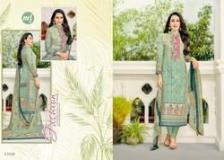 Full Sleeve Collar Neck Eleesaa Salwar Suit Fabric