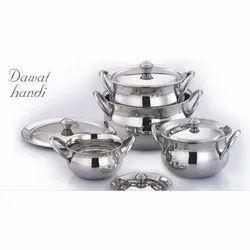 Stainless Steel Biryani Handi Set