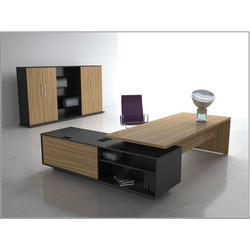 Office Executive Table With Storage Unit