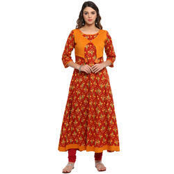 Party Wear Anarkali Cotton Kurti