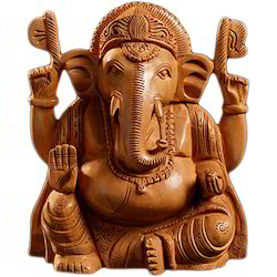 Wooden Ganpati Idols