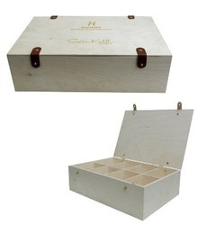 Customized Plywood Storage Tea Boxes With Leather Locks