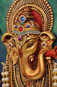 Round Arc Ganesh Face Mural