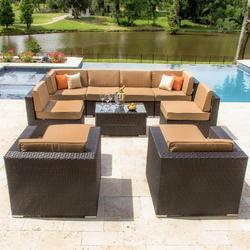 garden pe rattan sofa set - Garden Furniture Delhi