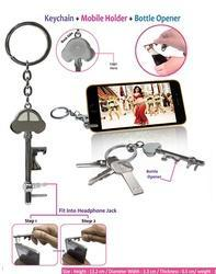 3-in-1 Opener Keychain Mobile Holder