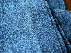 Cotton Blue Color Dyed Fabrics