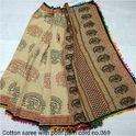 Bagru Printed Cotton Saree