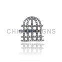 Cage Diamond Mid Rings