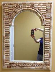 Cork  Framed Mirror