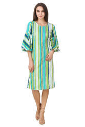 Western Wear Designer One Piece Stripe Dress
