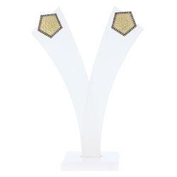 Diamond Hammered Finish Earrings
