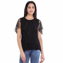 Cottinfab Women's Self Designed Net Top