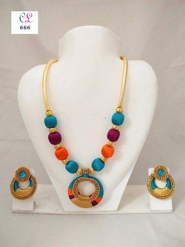 Silk Thread Jewellery - Silk Thread Necklace Set Exporter from Jaipur