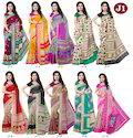 Multicoloured Jute Silk Sarees