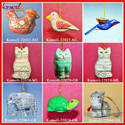 Christmas Xmas Ornaments Hand Painted Paper Mache Baubles